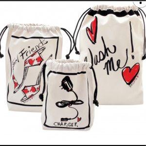 3 Brighton canvas travel bags new